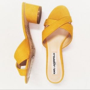 🆕 Karl Lagerfeld Mustard Yellow Fawn3 Suede